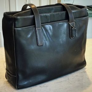Coach Black Leather Laptop Bag